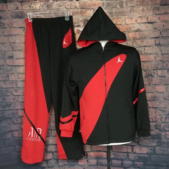 fb3bd58e50a Jordan Jackets & Coats | Air 2 Piece Track Suit Mens Large Red Black ...